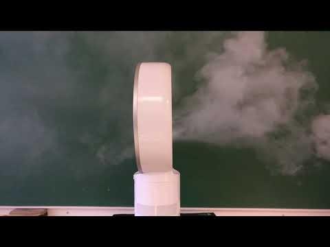 Expérience sur un ventilateur sans pales Dyson pour mettre en évidence l'effet Venturi.
