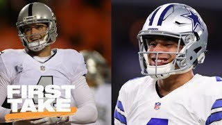 Will Dak Prescott Or Derek Carr Win A Super Bowl First? | First Take | June 20, 2017