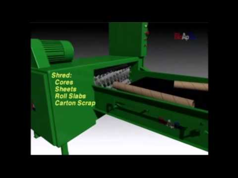 Watch the BloApCo Floor Mounted Shredder at work!