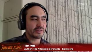 Tim Wu is the Author of The Attention Merchants: The Epic Scramble to Get Inside Our Brains. Tim argues that what you pay...