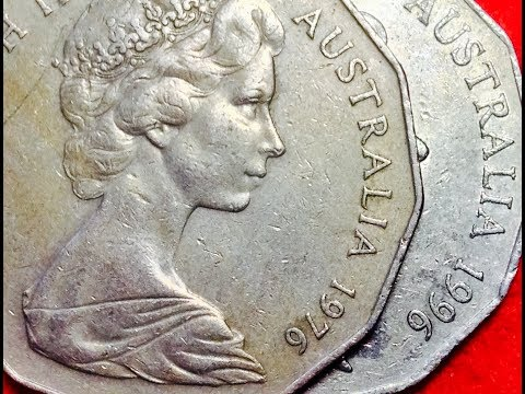 1976 & 1996 Australia 50 Cent Coins