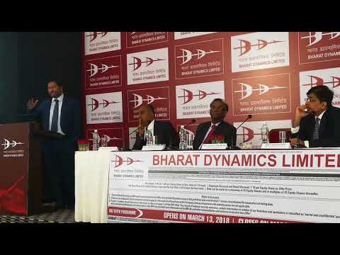 BHARAT DYNAMICS LIMITED : IPO TO OPEN ON 13 MARCH 2018 AND TO CLOSE ON 15 MARCH 2018