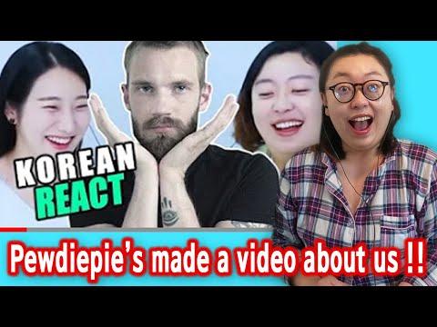 Koreans react to Pewdiepie reacting to them