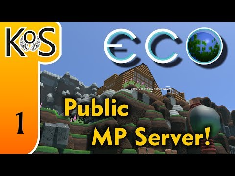 Eco Ep 1: BUILDING A COMMUNITY - Multiplayer - Voxel Builder/RPG - Let's Play