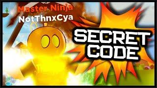 SECRET CODE LOCATION, MASTER NINJA RANK & BEST WEAPON! | Roblox Ninja LEGENDS