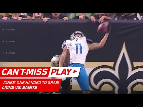 Video: Marvin Jones' Unbelievable One-Handed TD Grab! | Can't-Miss Play | NFL Wk 6 Highlights
