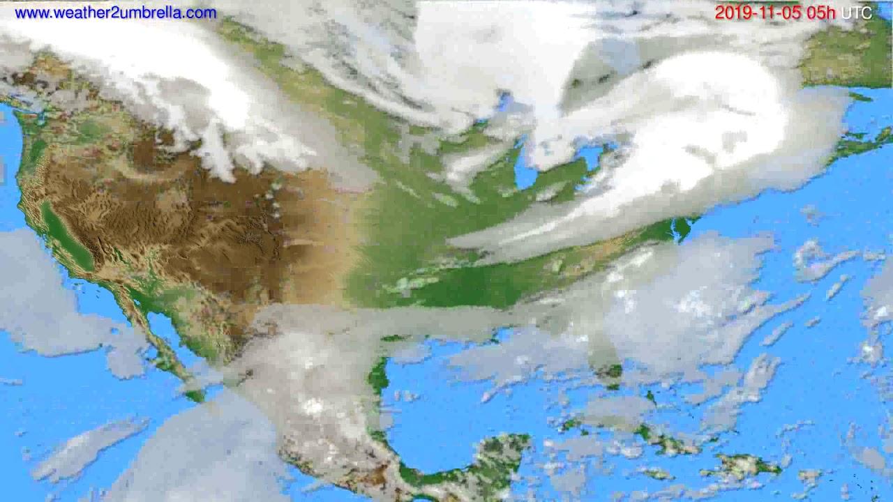 Cloud forecast USA & Canada // modelrun: 12h UTC 2019-11-03