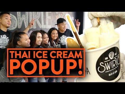 OUR OWN THAI ROLLED ICE CREAM SHOP?! - Swirle Seattle - Fung Bros Food