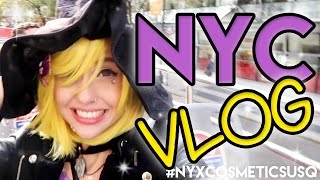 "Hey sweeties! This vlog will take ya along with me to NEW YORK CITY to celebrate the grand opening of NYX's new flagship store in NYC Union Square! And since this store is opening up just days before Halloween, let's toss in a lil Halloween party- NYX style!! Black tie & face costumes, here we go!!Huge thanks to NYX for making this trip possible! This video is not sponsored but the trip itself was provided by NYX Cosmetics.My Social Media:Facebook: http://on.fb.me/1qosyizInstagram: http://bit.ly/1oJbwMLTwitter: http://bit.ly/SvyfzkTumblr: http://bit.ly/1mdvoaDMusic: ""Spooky Ride"" by Twin Musicom is licensed under a Creative Commons Attribution license (https://creativecommons.org/licenses/by/4.0/)Source: http://www.twinmusicom.org/song/250/spooky-rideArtist: http://www.twinmusicom.org""The Darkness"" by MK2YouTube Audio Library"