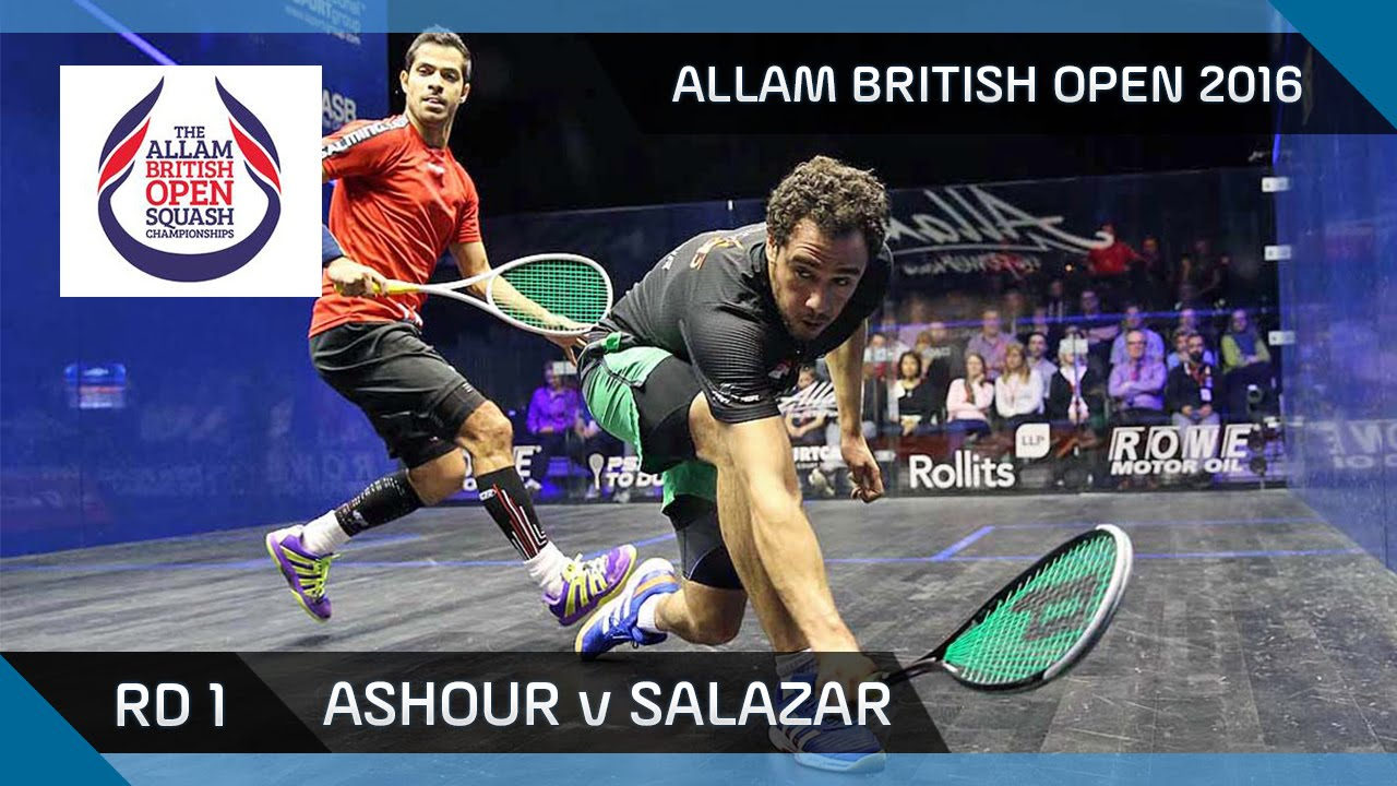 Squash: Ashour v Salazar – Allam British Open 2016 – Men's Rd 1 Highlights