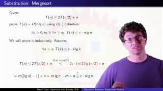 Recurrence Relations:  Substitution Method