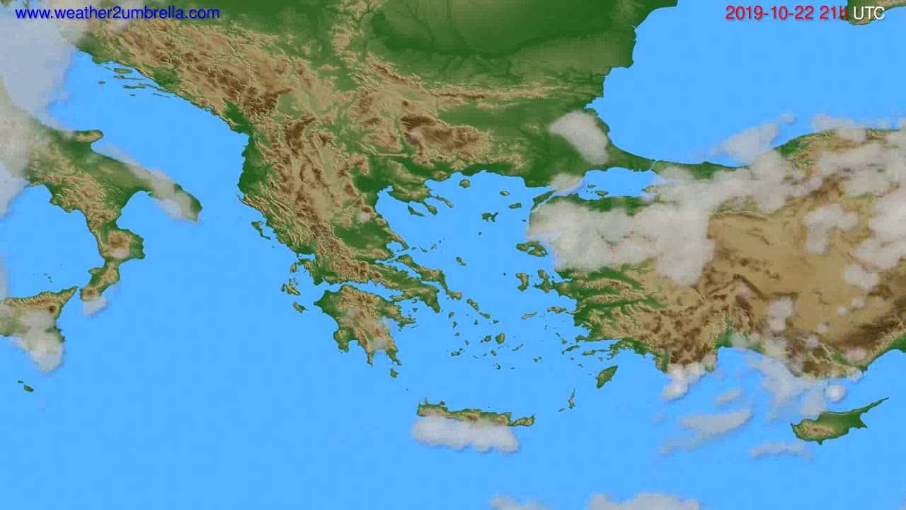 Cloud forecast Greece // modelrun: 00h UTC 2019-10-21