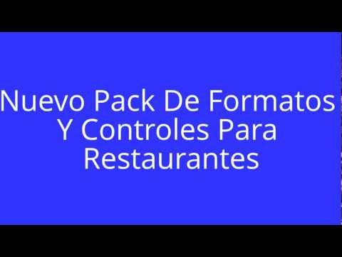 formatos y controles para restaurantes gratis videos