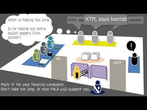 voter - 10 minute Quick guide on how to vote in PRU13, Malaysia 2013. Overcoming voter problems. Avoiding potential loopholes.