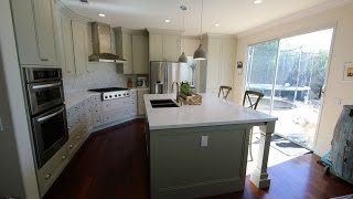 Transitional Design Build Remodel with APlus Custom Cabinets in Tustin Orange County