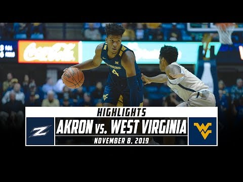 Akron vs. West Virginia Basketball Highlights (2019-20) | Stadium