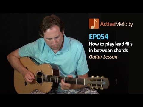 How to play lead fills between chords – Guitar Lesson – Filler licks – EP054