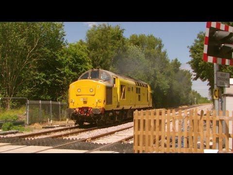 Network Rail 97304 'John Tiley' light engine at Saltney (...