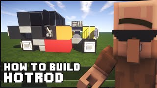 Minecraft Vehicle Tutorial - How to Build : Hot Rod