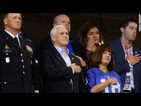 Pence leaves NFL game over anthem kneeling