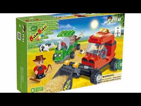 Video Farm Workers Toy Building Set now online at YouTube
