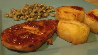 The basting sauce really gives the pork chops and great taste, and the juices gets all soaked up by the potatoes. You can add any...