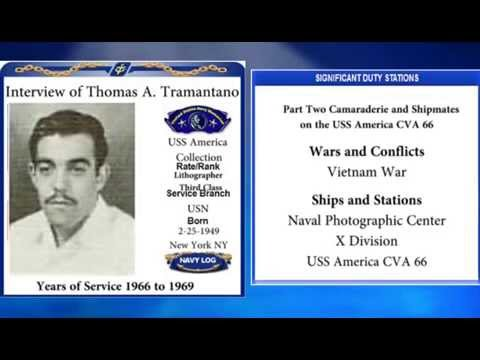 USNM Interview of Thomas Tramantano Part Two Camaraderie and Shipmates on the USS America CVA 66