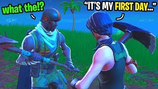 I made an AERIAL ASSAULT TROOPER believe I was a NOOB in Fortnite random duos...