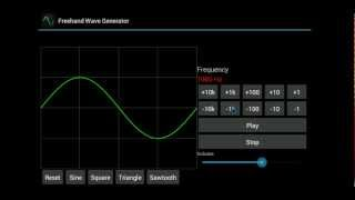 Freehand Wave Generator YouTube video