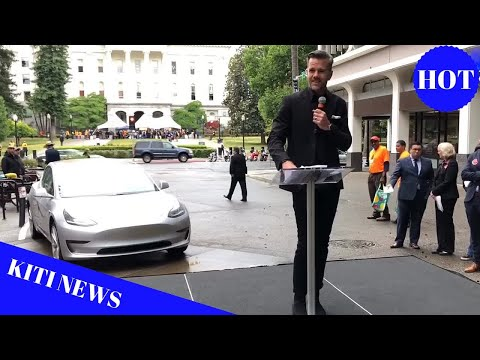 Tesla Chief Designer delivers speech at CA State Capitol, pledges support of 5M EV goal by 2030