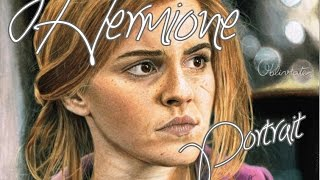 """Hello! Long time no see!I brought you today a time lapse video of me drawing Emma Watson as Hermione Granger and I really hope you like it! As I was recording my memory card wouldn't have enough space and stoped recording but I couldn't notice it right away. That's why out of nowhere her face is already painted at some point...So the music is:""""Statues"""", """"Lily's Theme"""" and """"Obliviate"""" from Deathy Hallows soundtrackSubscribe! http://www.youtube.com/subscription_center?add_user=SaraLealSims2Facebook:https://www.facebook.com/pages/Sara-Leal-YoutubeART Facebook:https://www.facebook.com/saraalexandralealTwitter:https://twitter.com/SaraLeal95Instagram: http://instagram.com/saraleoaaa/Tumblr:http://saraleoa.tumblr.com/DeviantArt:http://isaidonce.deviantart.com/"""