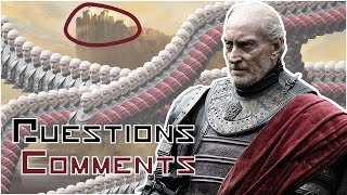 This video is looking at some interesting comments on my Game Of Thrones - Why Tywin Lannister Truly Is The Greatest Character video.Watch the Orignal here: https://youtu.be/AuF-0odiAC8Analysis of Thrones: https://goo.gl/j8q70hThe editing style of this video is based on MisterAmazing. Thanks to all the people I featured in this video for your comments and thought!Free AudioBook:  http://www.audibletrial.com/kingSubscribe: http://bit.ly/1yePWnGTwitter: https://twitter.com/twkingmckayFacebook:  http://bit.ly/1AaOXTHGoogle +: http://bit.ly/1stPJxfPatreon: https://www.patreon.com/kingmckayGame of Thrones is an American fantasy drama television series created by showrunners David Benioff and D. B. Weiss. It is an adaptation of A Song of Ice and Fire, George R. R. Martin's series of fantasy novels, the first of which is titled A Game of Thrones. It is filmed in a Belfast studio and on location elsewhere in Croatia, Iceland, Malta, Morocco, Northern Ireland, Spain, Scotland, and the United States, and premiered on HBO in the United States on April 17, 2011. The series has been renewed for a sixth season, which will premiere on April 24, 2016FAIR USE NOTICEThis video may contain copyrighted material; the use of which has not been specifically authorized by the copyright owner. We are making such material available for the purposes of criticism, comment, review and news reporting which constitute the 'fair use' of any such copyrighted material as provided in the NZ Copyright Act 1994. Notwithstanding the provisions of the 42 section, the fair use of a copyrighted work for purposes such as criticism, comment, review and news reporting is not an infringement of copyright.
