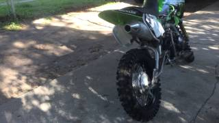 4. 2007 Kawasaki KLX 110 Monster Grafix
