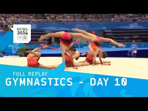 Rhythmic - Nanjing 2014 Day 10 Women's Individual all-around Group competition pt3 Start List: - Kazakhstan - Bulgaria - Uzbekistan - Russian Federation - Canada - Egyp...