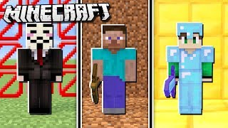 HACKER vs PRO vs NOOB in Minecraft!