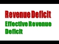 Revenue Deficit  and  Effective Revenue Deficit