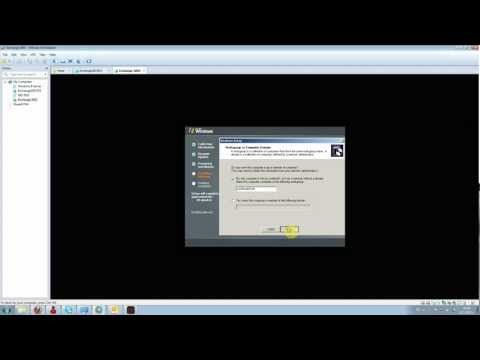 Installing Windows Server 2003 SP2 from scratch on VMWare Workstation