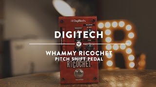 The Digitech Whammy Ricochet give you all the tone bending functionality of a whammy bar in pedal form, and so much more. Just hold your foot on the switch a...