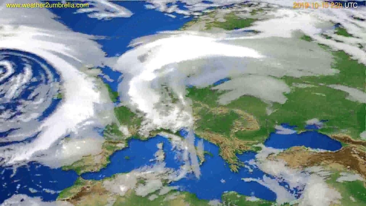 Cloud forecast Europe // modelrun: 00h UTC 2019-10-13