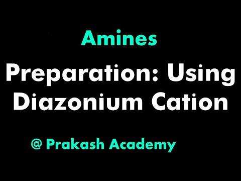 Organische Chemie-Amin-Herstellung mit Verwendung Diazoniumkations-Problem
