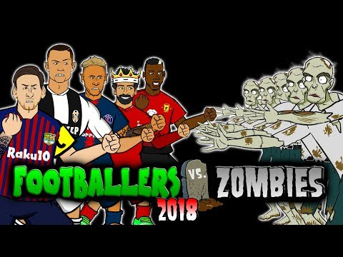 💀FOOTBALLERS vs ZOMBIES 2018💀 Halloween Special (Messi, Ronaldo, Zlatan, Salah, Neymar and more!)