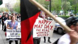 NYC Starbucks Workers Union On May Day 2009