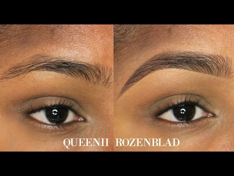 """Natural"" Eye Brow Tutorial Using Pencil - Queenii Rozenblad"
