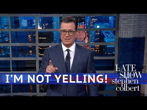 Stephen Colbert's LIVE Monologue Part 2: Hands In The Air