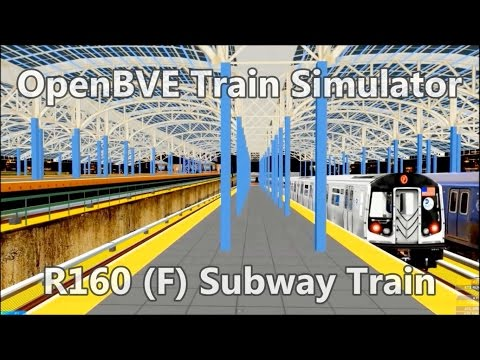 OpenBVE Train Simulator Gameplay - NYCT R160 (F) Subway Train Coney Island Jamaica
