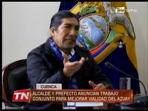Alcalde y Prefecto anuncian trabajo conjunto para mejorar vialidad del Azuay