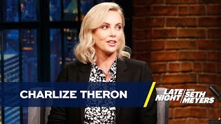 Charlize Theron shares the uncool ways most of her injuries happened while filming intense fight scenes for Atomic Blonde and her terrible Russian language skills.» Subscribe to Late Night: http://bit.ly/LateNightSeth» Get more Late Night with Seth Meyers: http://www.nbc.com/late-night-with-seth-meyers/» Watch Late Night with Seth Meyers Weeknights 12:35/11:35c on NBC.LATE NIGHT ON SOCIALFollow Late Night on Twitter: https://twitter.com/LateNightSethLike Late Night on Facebook: https://www.facebook.com/LateNightSethFind Late Night on Tumblr: http://latenightseth.tumblr.com/Connect with Late Night on Google+: https://plus.google.com/+LateNightSeth/videosLate Night with Seth Meyers on YouTube features A-list celebrity guests, memorable comedy, and topical monologue jokes.NBC ON SOCIAL Like NBC: http://Facebook.com/NBCFollow NBC: http://Twitter.com/NBCNBC Tumblr: http://NBCtv.tumblr.com/NBC Pinterest: http://Pinterest.com/NBCtv/NBC Google+: https://plus.google.com/+NBCYouTube: http://www.youtube.com/nbcNBC Instagram: http://instagram.com/nbctvCharlize Theron Sorta Trained with Keanu Reeves for Atomic Blonde- Late Night with Seth Meyershttps://youtu.be/7n4mEzwUgHkLate Night with Seth Meyershttp://www.youtube.com/user/latenightseth