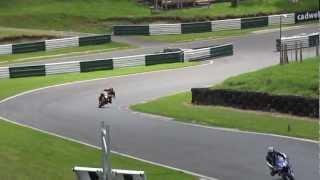 8. 2003 Aprilia Tuono Racing over the Mountain at Cadwell Park