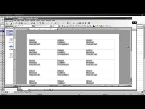 Printing Address Labels in LibreOffice