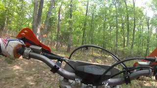 10. 2013 KTM 200 XC-W at black jack enduro, Lead belt 2013